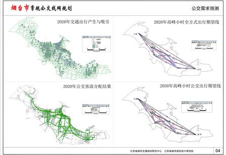 烟台市常规公交线网规划